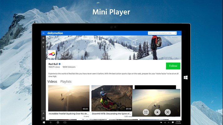Windows 10 Gets Dailymotion App With Mini Player