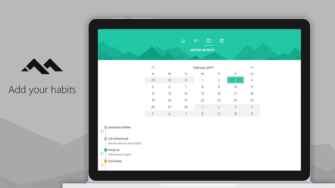 Add Habits & More Into Deanna Task Management App