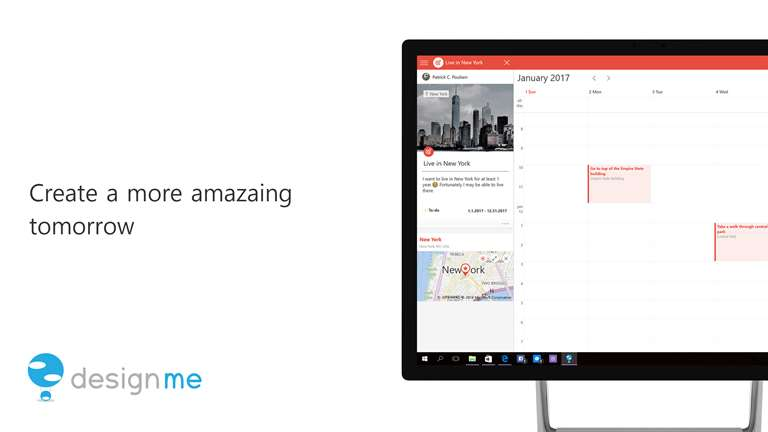 DesignMe Makes Calendars Live On Windows 10