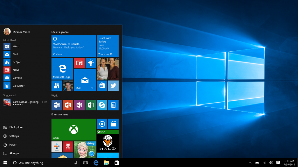 Microsoft Gives Users A Familiar Start Screen On Windows 10