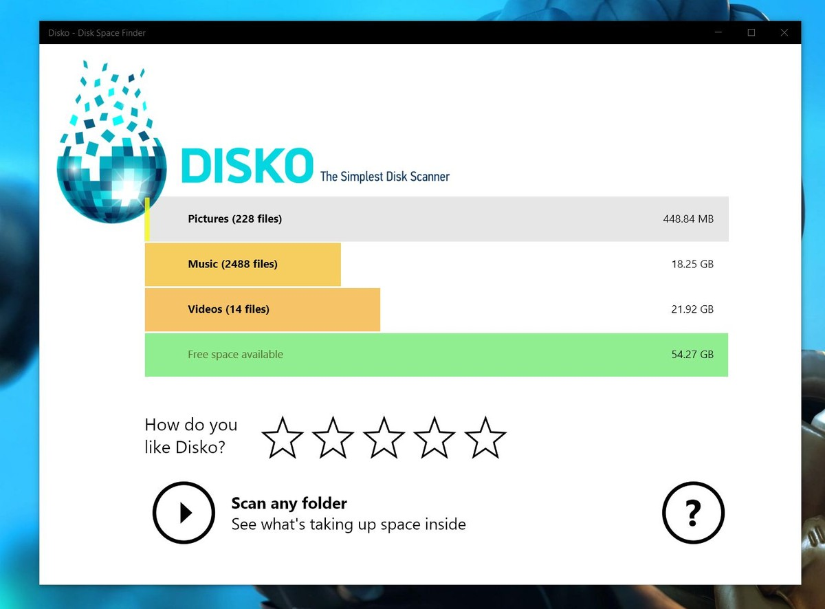 Disko Launches As Drive Manager On Windows 10