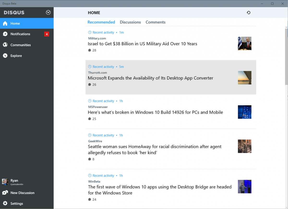 Disqus App Gets Improvements On Windows 10
