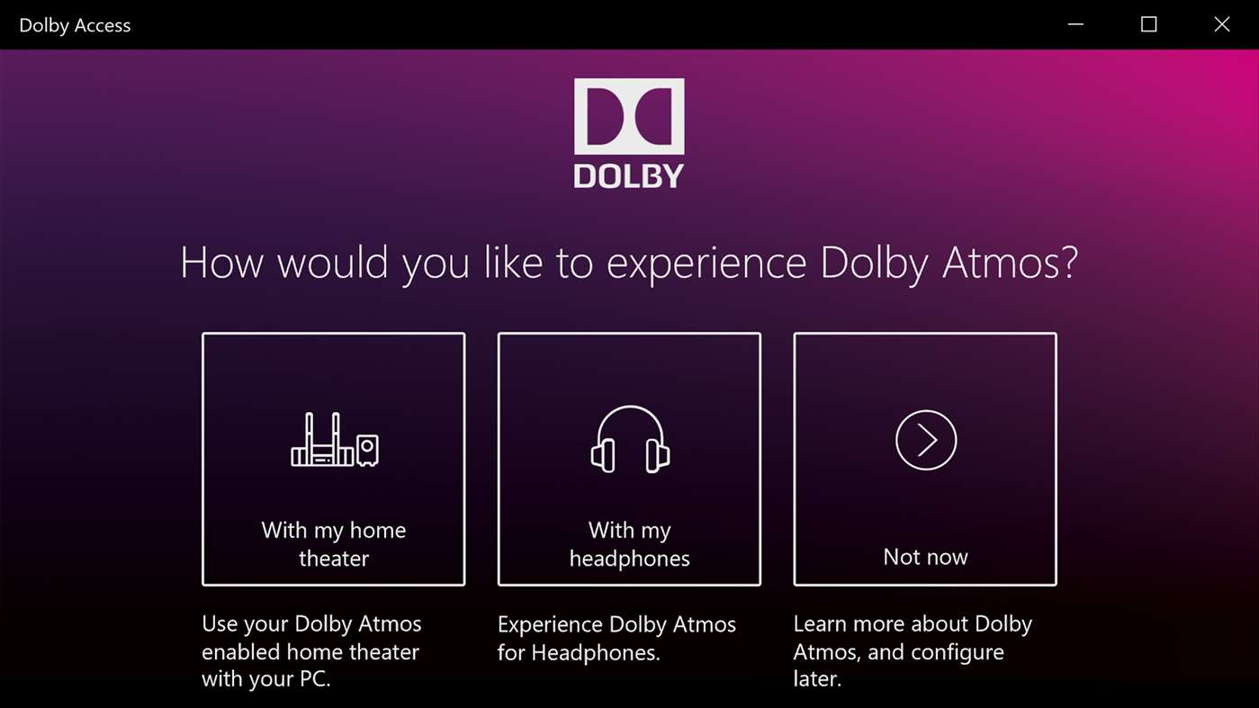 Try Dolby Atmos On Your Winodws 10 Machine Today