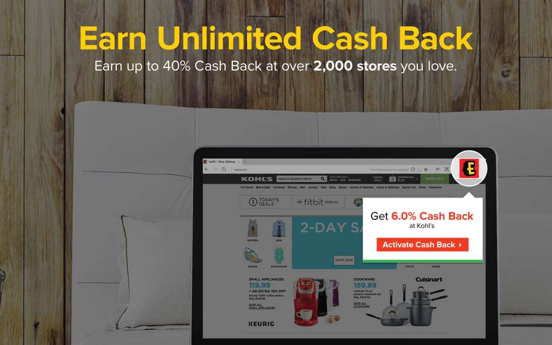 Get Cash Back At Kohl's and Other Retailers On Windows 10 With Ebates