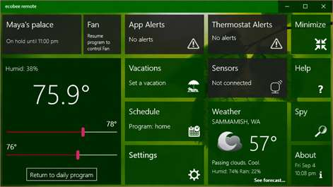 Ecobee Windows 10 Remote App Makes Your Ecobee Thermostat Shine & Amaze