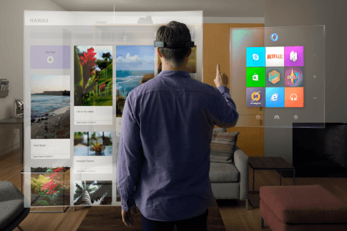 Microsoft Shows Off Microsoft HaloLens During Windows 10 Event
