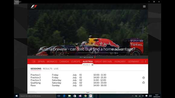 Formula 1 Fans Get Amazing Windows 10 App