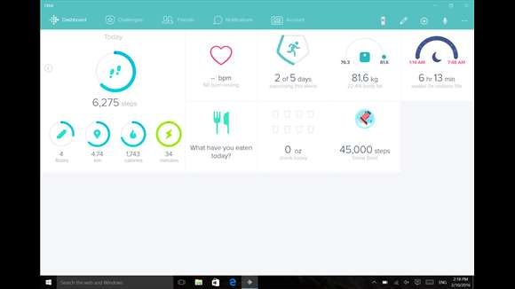 Microsoft's Windows 10 Fitbit App Makes Exercising Fun