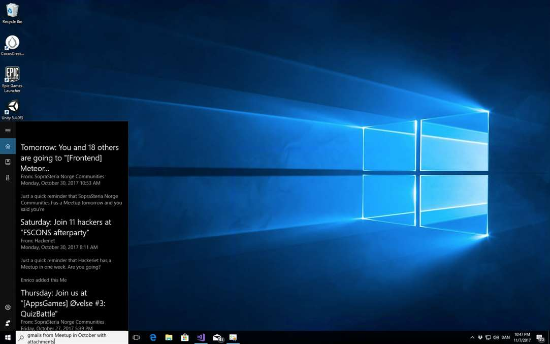 Search Your Gmail Using Cortana Commands In Windows 10