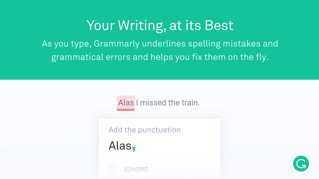 Get Perfec Grammar With Grammarly For Edge