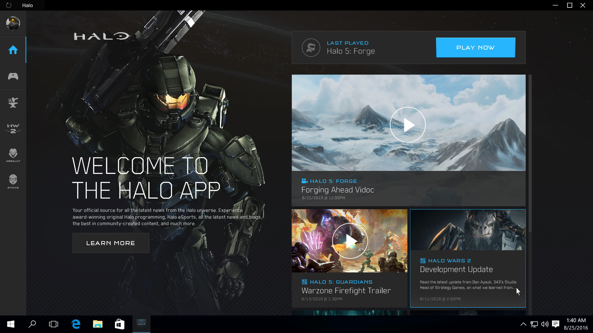 Halo App Gets Sneak Preview For Windows 10 PCs