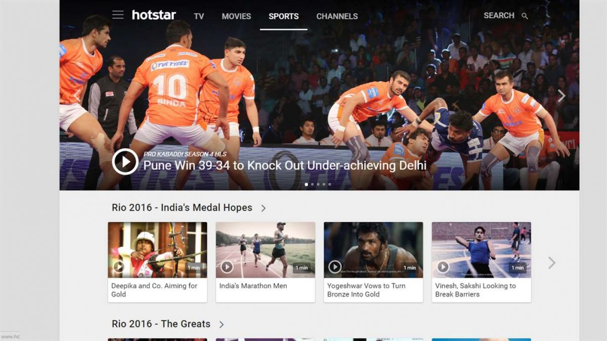 Hotstar Brings TV App To Windows 10 Devices