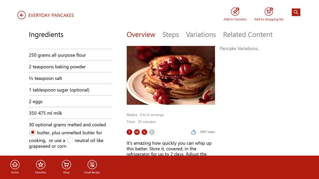 Make Pancakes Easy With Windows 10 Cooking App