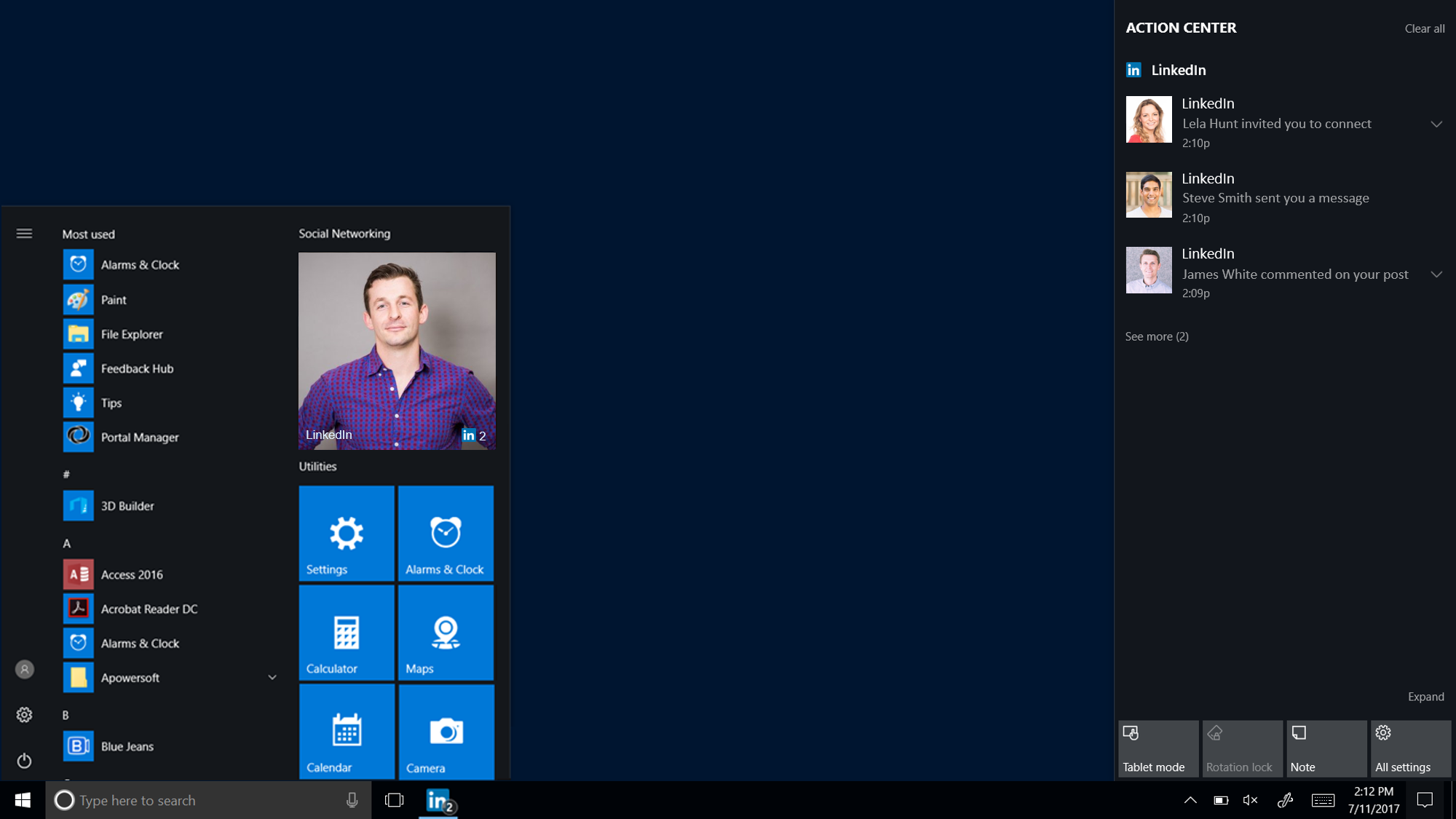 Microsoft Launches New LinkedIn App For Windows 10