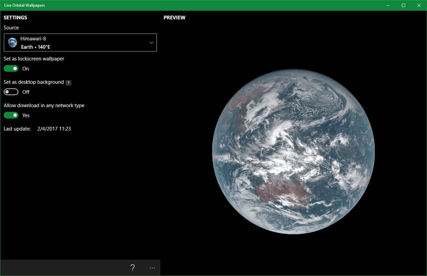 See The Earth With Windows 10 Desktop App