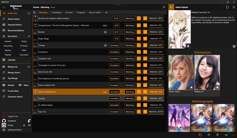Expand & Enhance Your Anime With MALClient On Windows 10