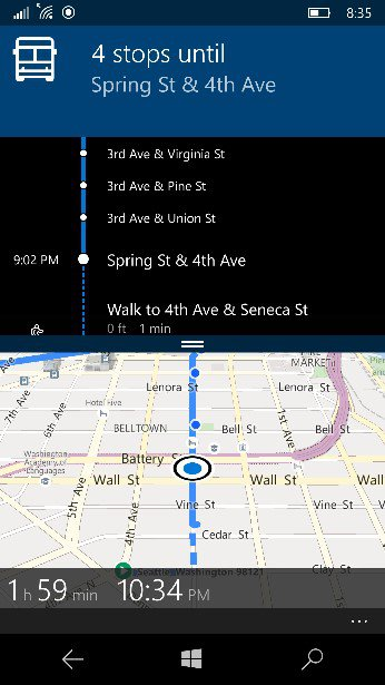 Windows Maps App Integrates Public Transit Directions Better On Windows 10 Devices