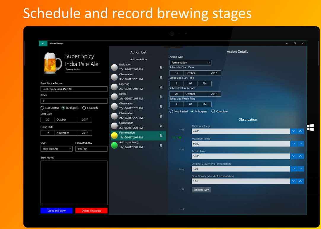 Schedule & Record Brewing Stages Of Your Next Beer Batch