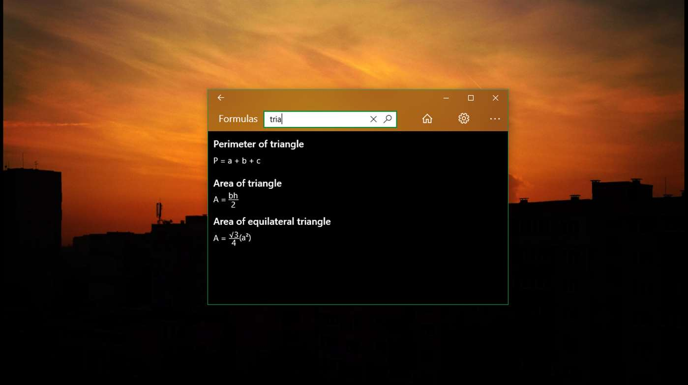 Complex Triangle Calculations Are A Breeze With This Windows 10 App