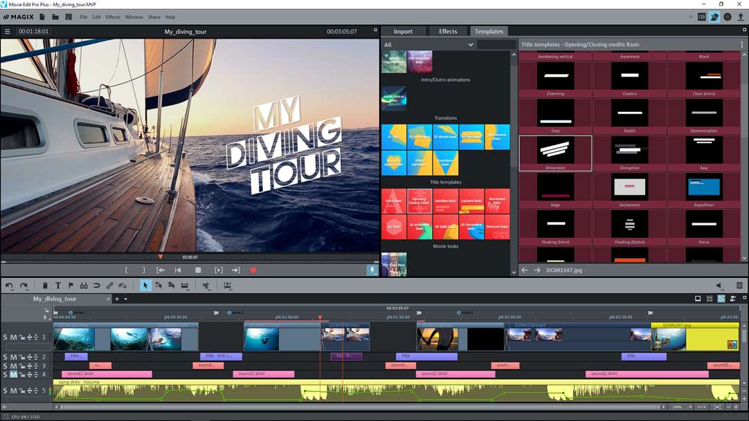 Create Title & Outro's With Movie Edit Pro Plus