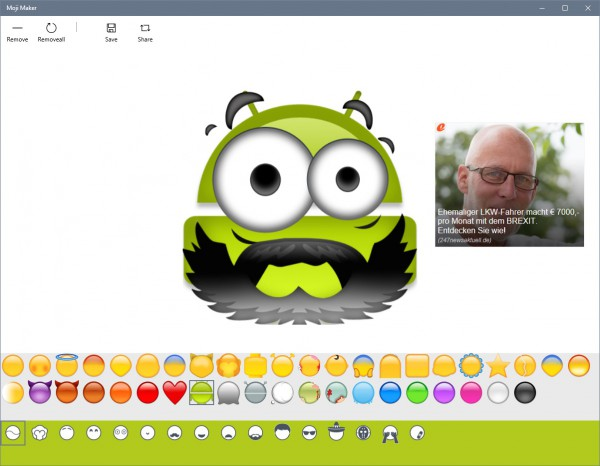 Make Fun Moji's With Moji Maker On Windows 10