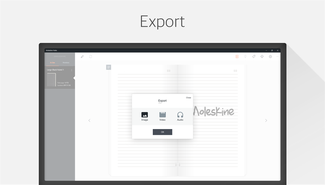 Export Saved Notes With Moleskine Notes App To Various Formats