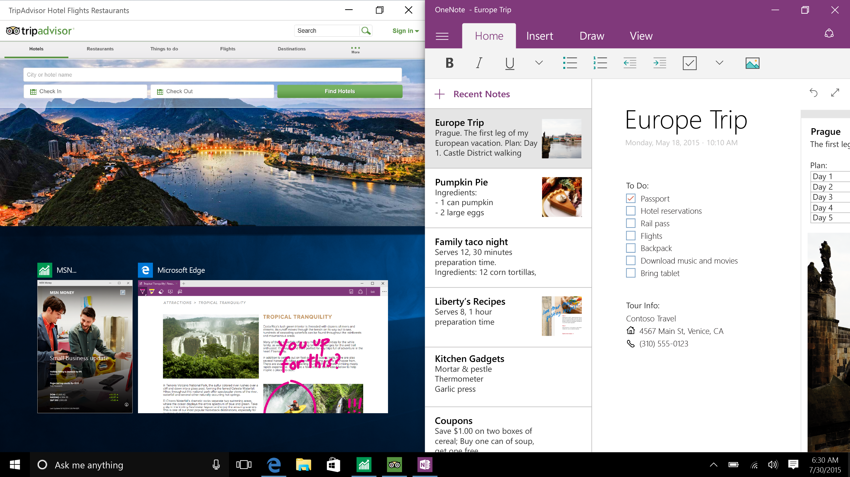 Microsoft Shows Off Multitasking With Windows 10