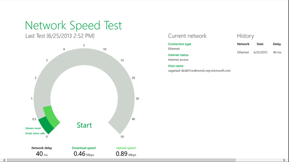 Network Speed Test App Analyzes Network Traffic With Windows 10 App