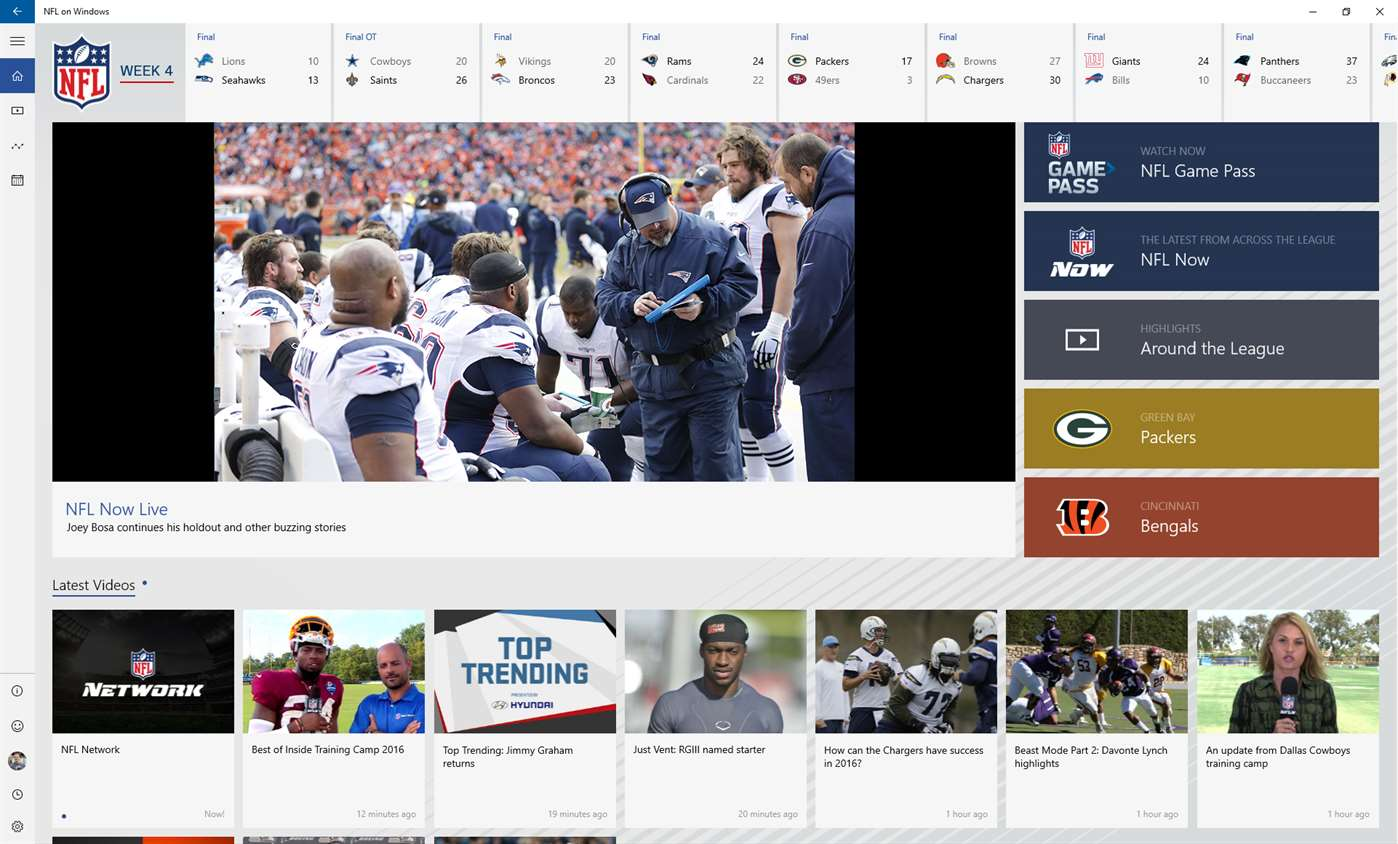 NFL On Windows Brings The NFL To Windows 10