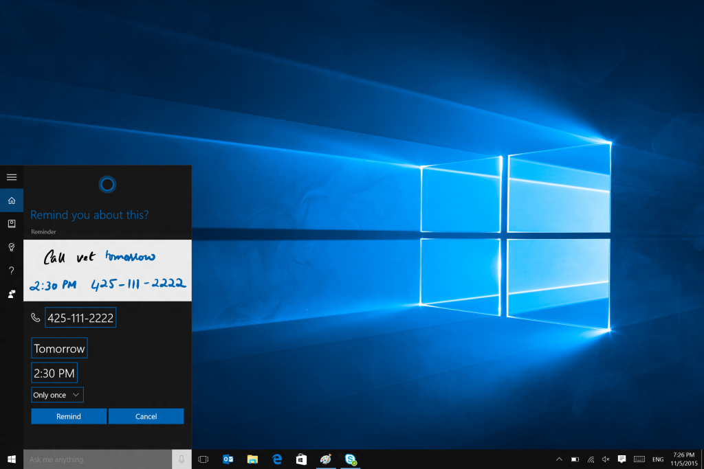 Microsoft Update Cortana With November Windows 10 Update