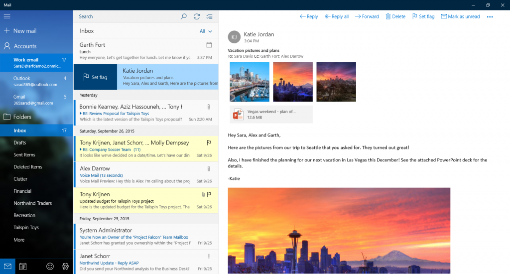 Microsoft Gives Mail & Calendar Update With November Windows 10 Update