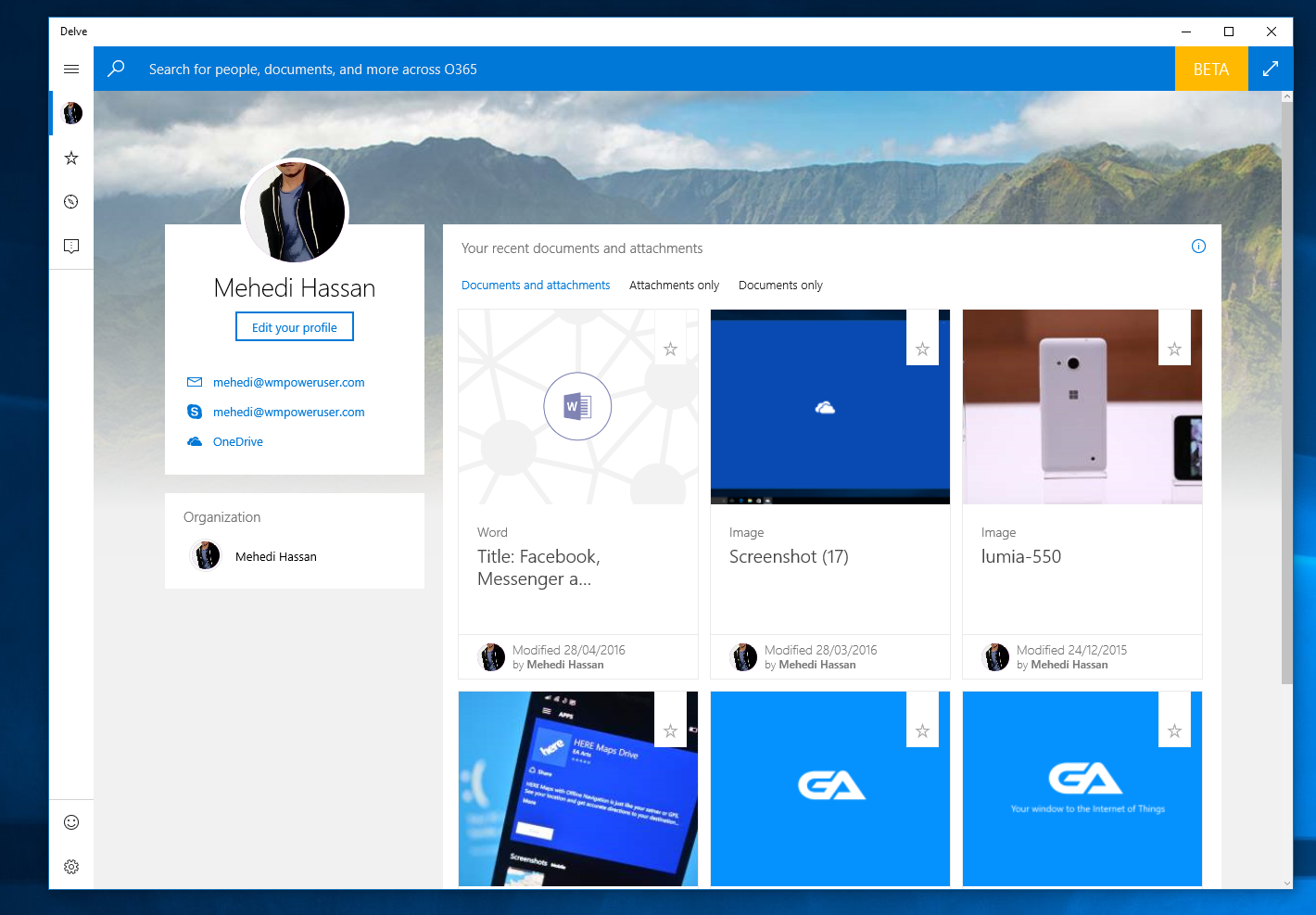 Microsoft Releases Office Delve App On Windows 10 Machines