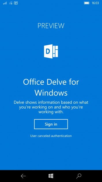 Office Delve Comes To Windows 10 Mobile