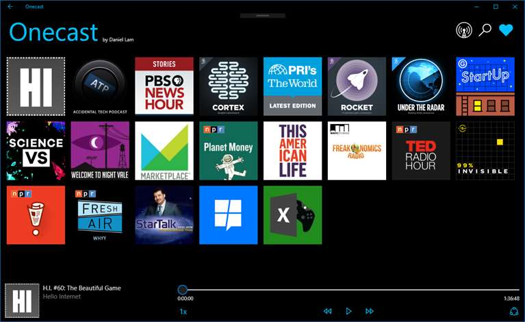 Listen & Manage Podcasts Using Onecast On Windows 10