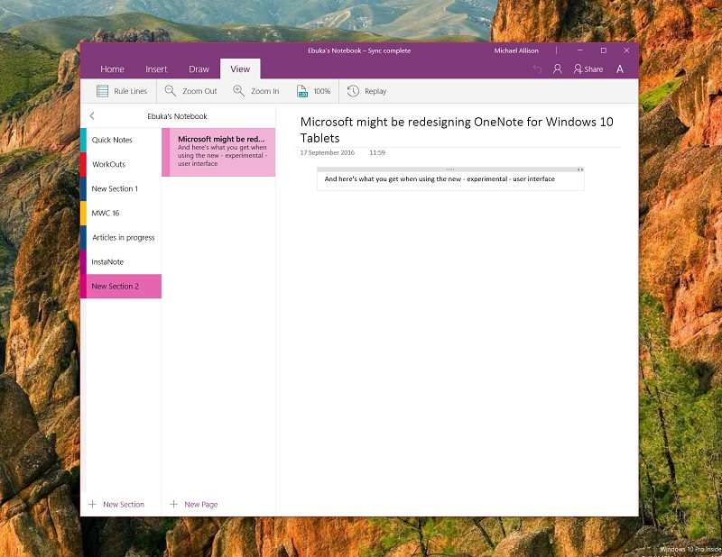 OneNote Shows With New Updates To Windows 10 App Coming Soon