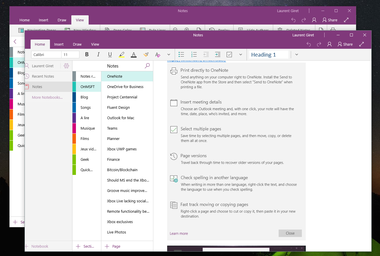 Selecting Multiple Pages In OneNote Is Easy With May 2017 Updates
