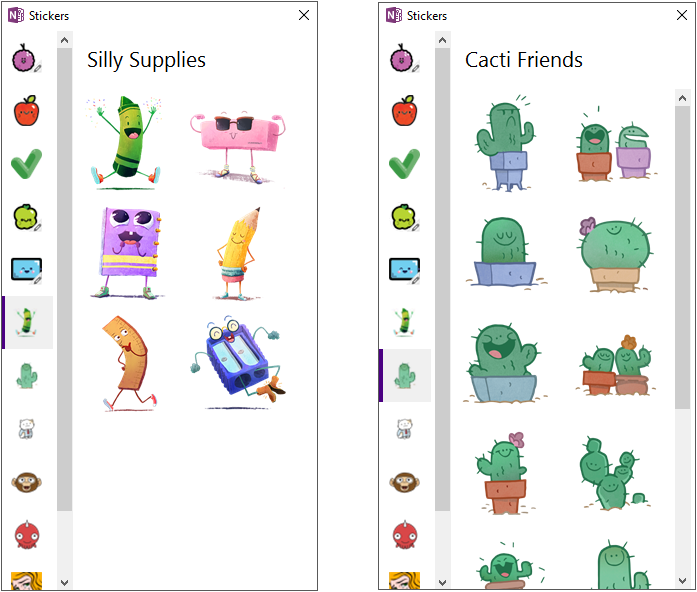 Sticker Packs Arrive With OneNote Updates On Windows 10