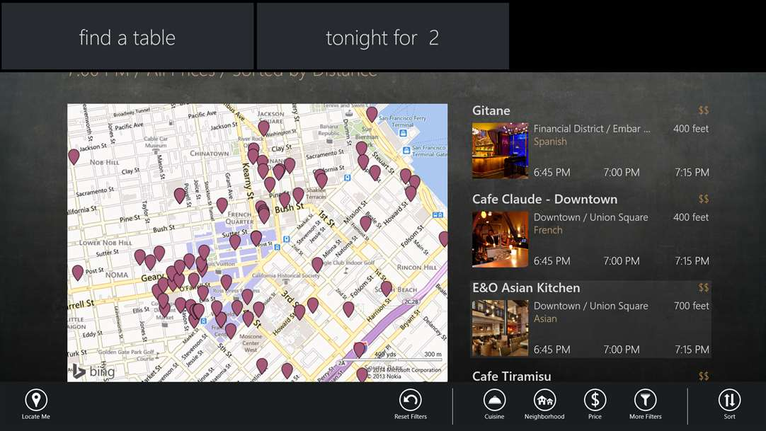 Spot New Restaurnants With OpenTable On Windows 10
