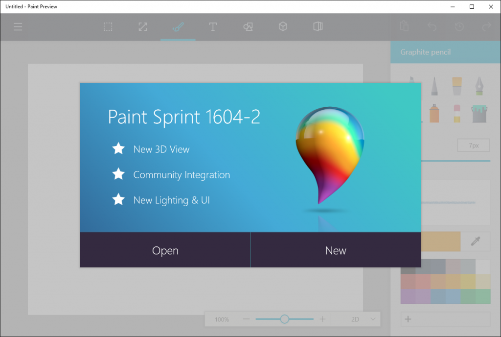 Newest Paint Versions Make Microsoft Paint Shine On Windows 10
