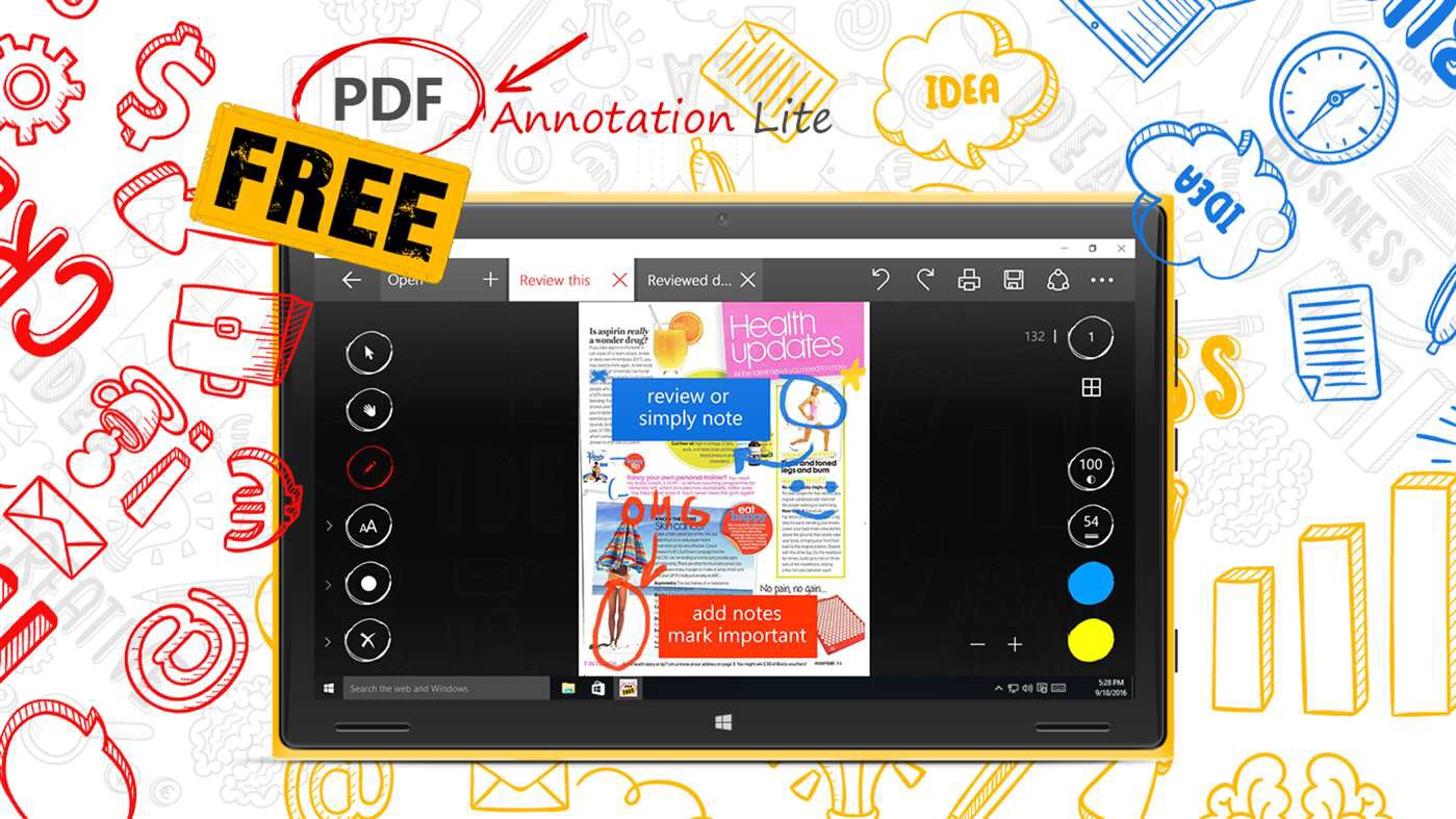 Draw & Edit PDF Docs With PDF Annotation Lite