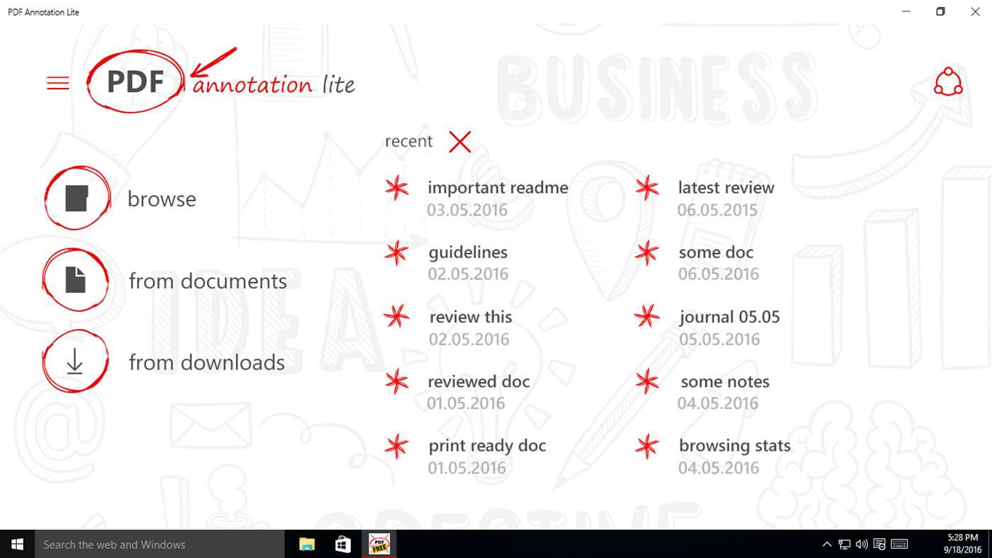 Access PDF's Easily With PDF Annotation Lite On Windows 10