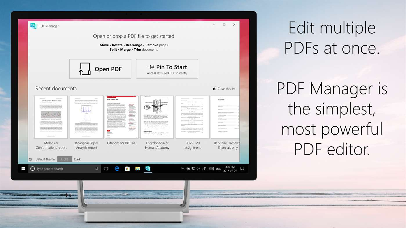 Sort & Open PDF's Simply With PDF Manager