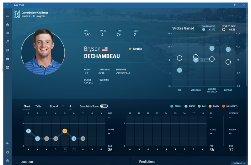 New PGA Tour App Launches On Windows 10