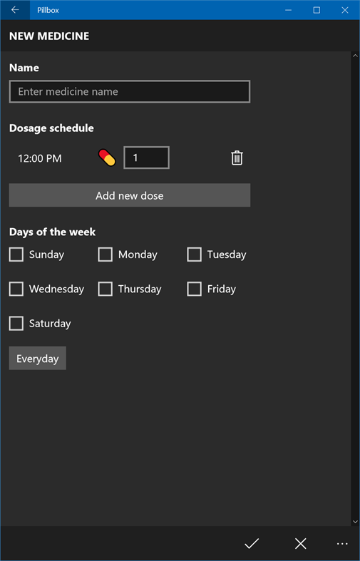 Remind Yourself To Take Medication With Pillbox On Windows 10