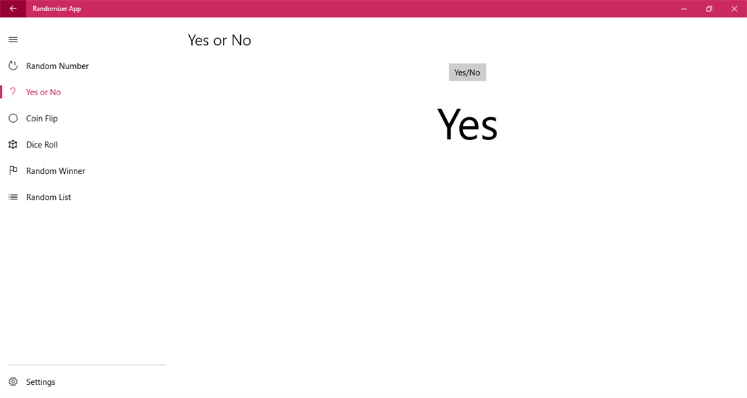 Choose Yes or No With Random Resulsts On Windows 10