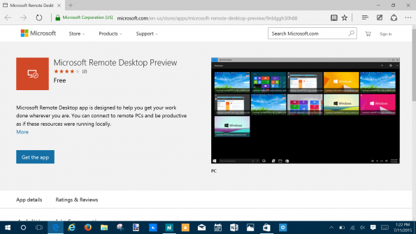 Windows 10 Remote Desktop Preview App Gets Better From Initial Release