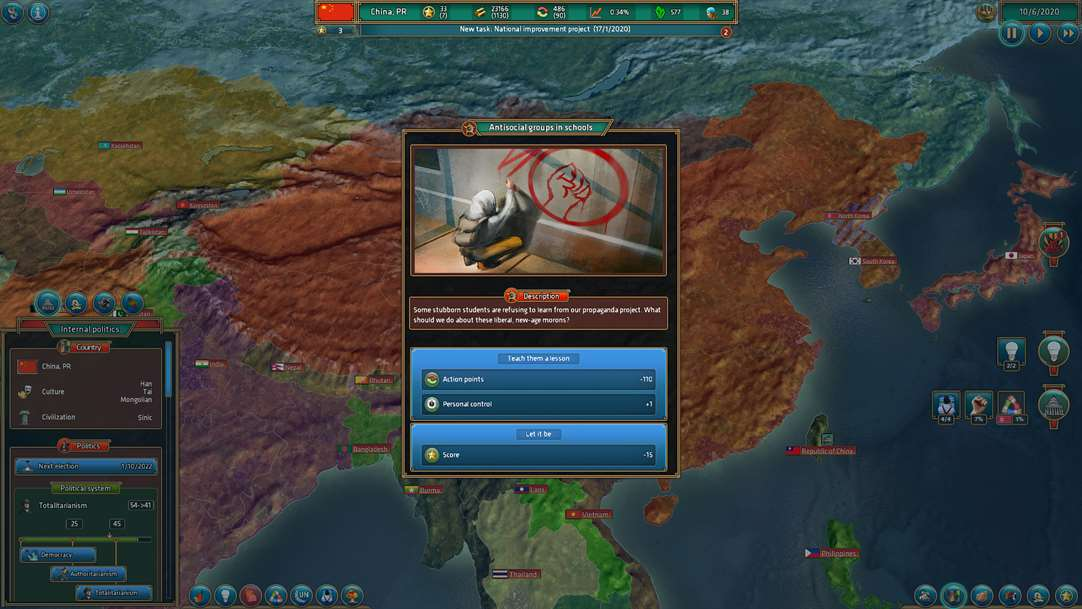 Conquer Nations & Manage Your Country With Realpolitiks