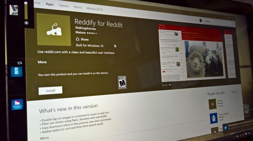 Reddify Gives Reddit To Windows 10 Users