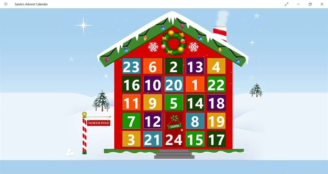 Santa's Advent Calendar Comes To Live On Windows 10
