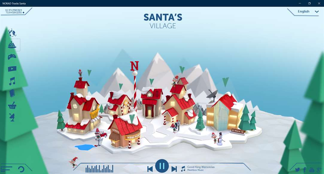 Find Santa Online With NORAD Tracks Santa On Windows 10